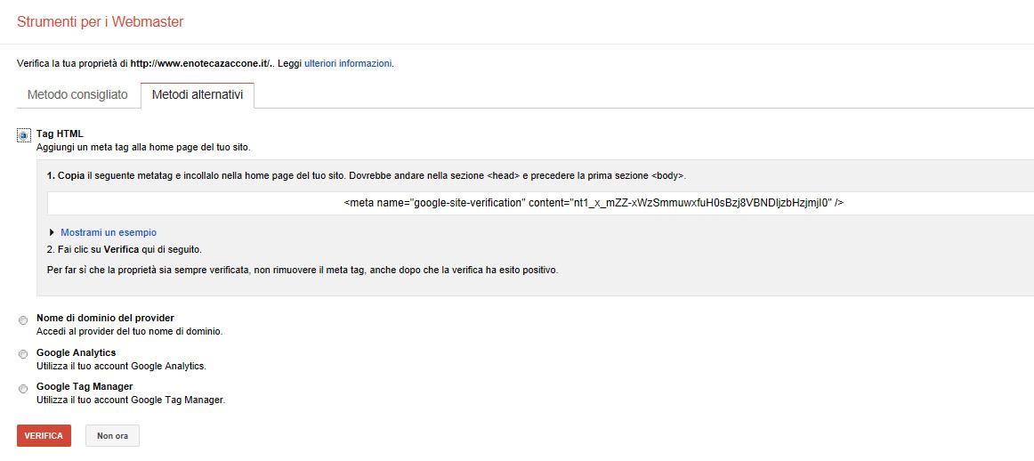 verifica con tag html