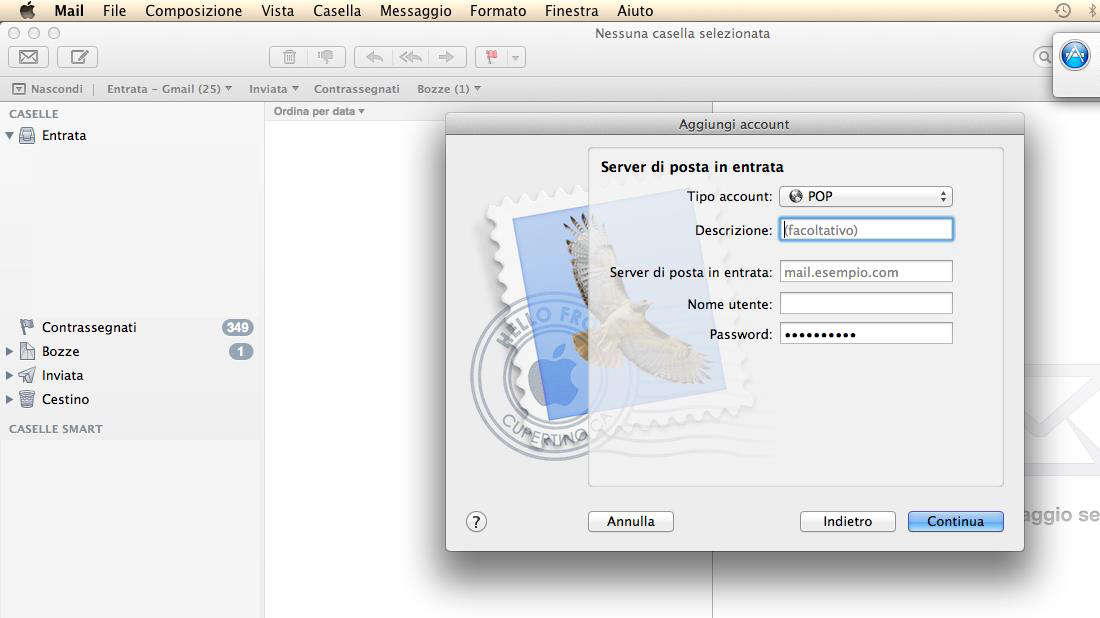 installa mail su Mac