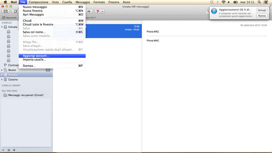 mail su mac