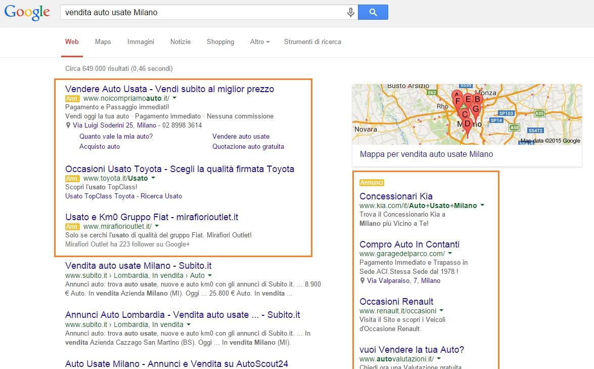 foto blog risultati adwords
