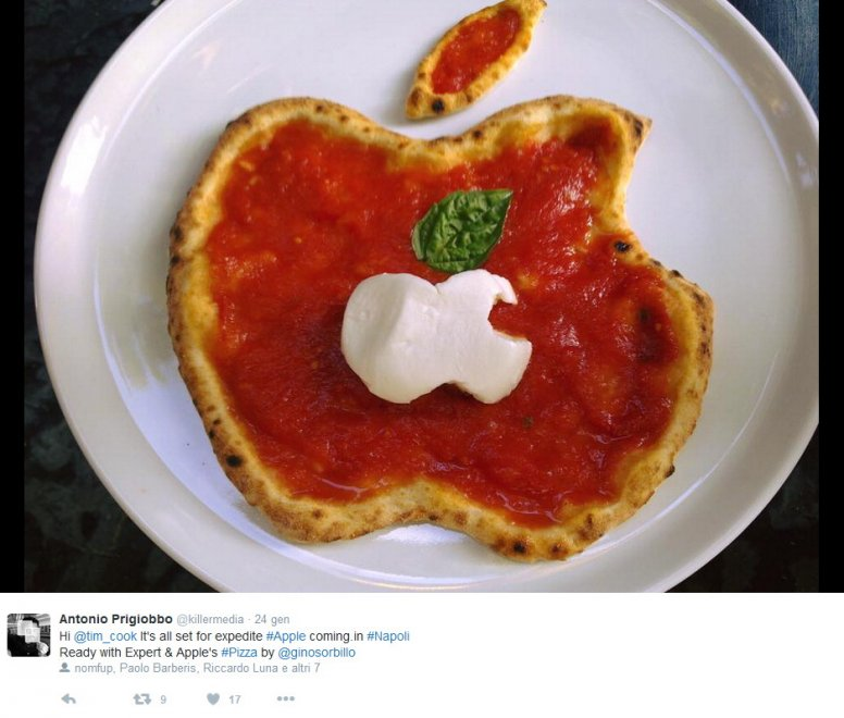 pizza logo apple
