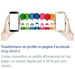 esempio sponsorizzata facebook colonna destra
