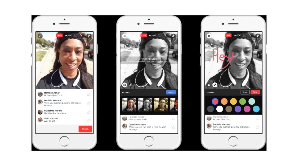 Facebook-live-filtri