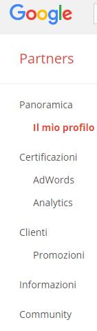 certificazione google partners