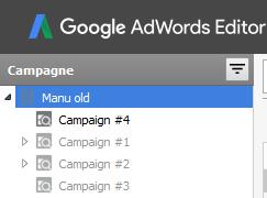seleziona la campagna da copiare