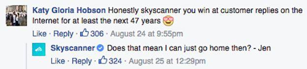 skyscanner servizio clienti facebook