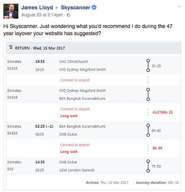 Skyscanner servizio clienti