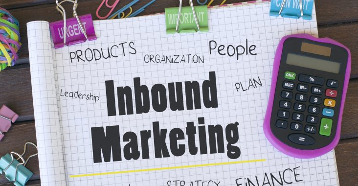 Inbound marketing concept background