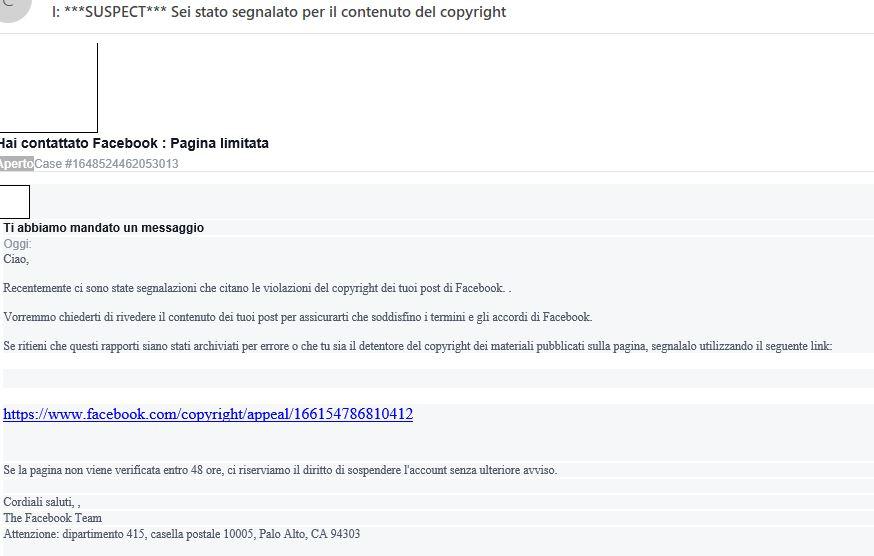 mail phishing facebook