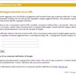 segnala sito a Google