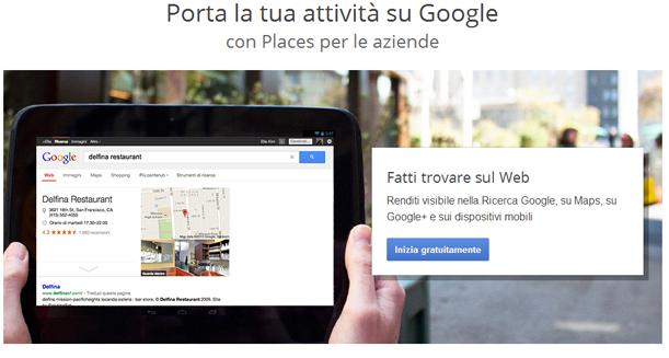 Google Place per aziende
