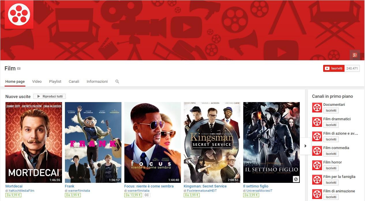 Come guardare un film su youtube