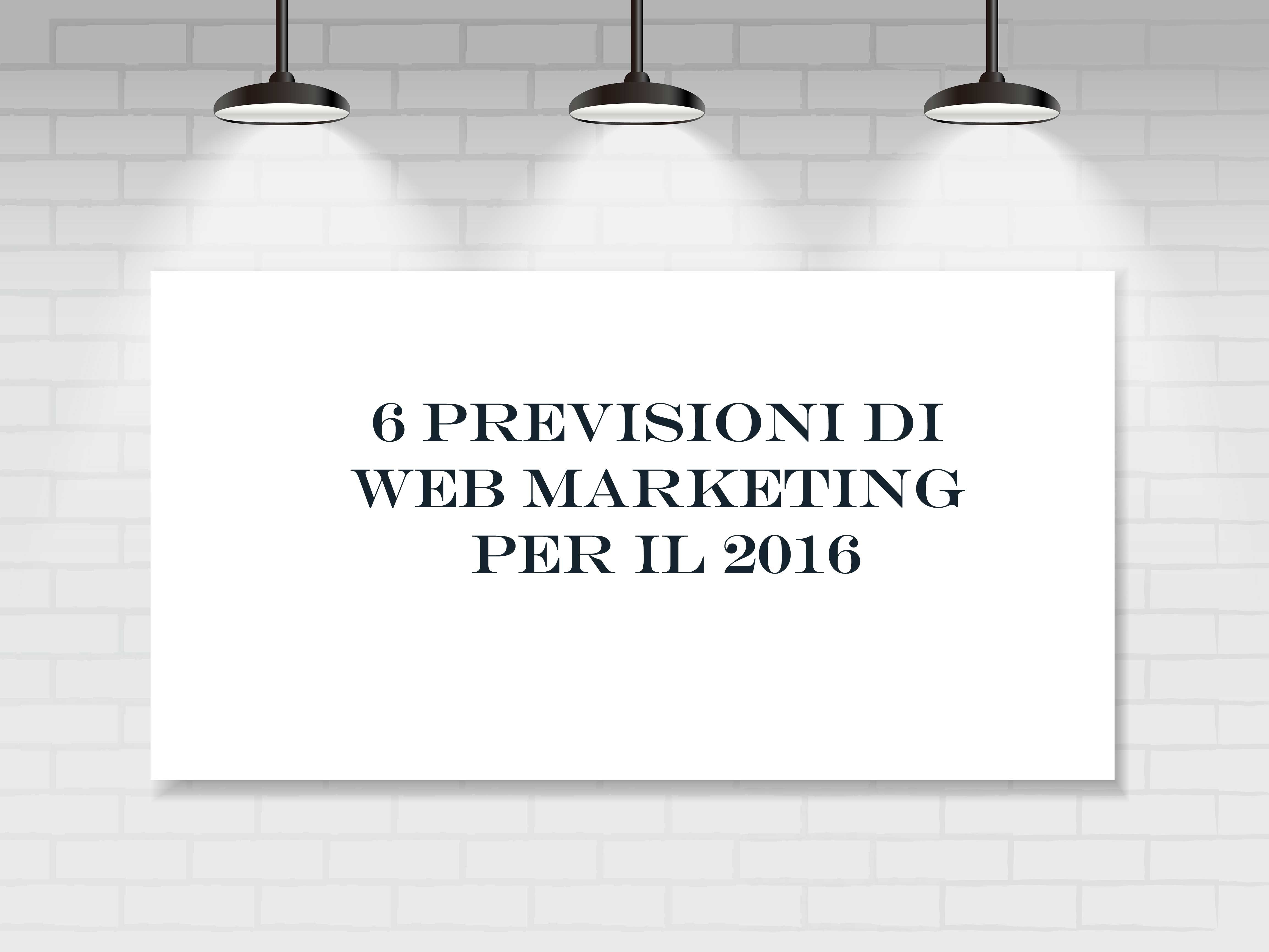 Trend web marketing 2016